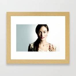 Olivia Wilde Framed Art Print