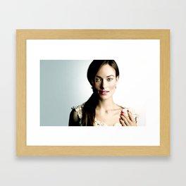Olivia Wilde Framed Art Print