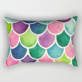 This Mermaid Life Bright by Andrea Rectangular Pillow