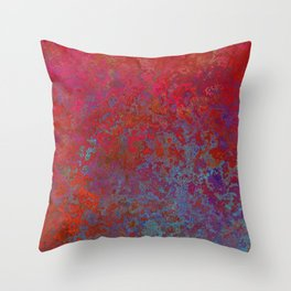 Rose-Petal Red Throw Pillow
