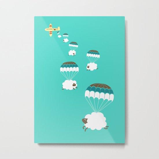 Sheepy clouds Metal Print