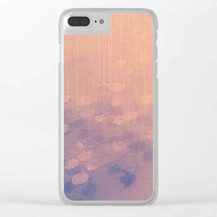 Lotus Pond and Spring Sunshine Clear iPhone Case