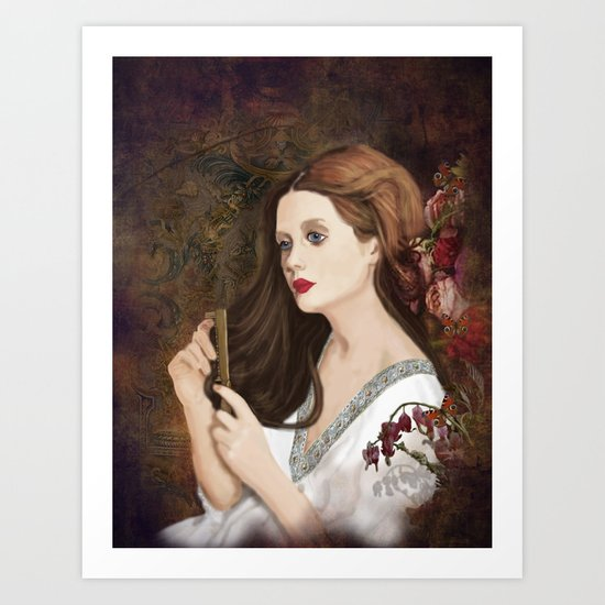 Until dark, my love (Vampire Ball) Art Print