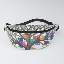 Connecticut Whimsical Cats in Tree Fanny Pack