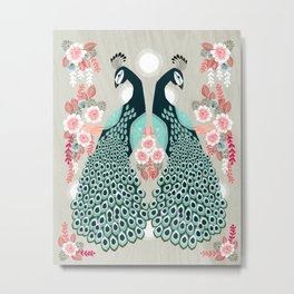 Peacocks by Andrea Lauren  Metal Print