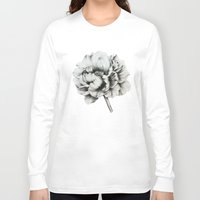 peony Long Sleeve T-shirts featuring Peony by Lily Sayang