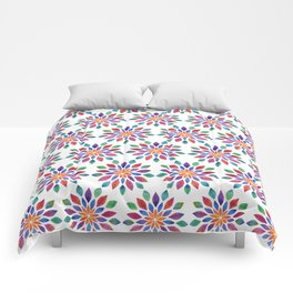 Rainbow Leaves Comforters