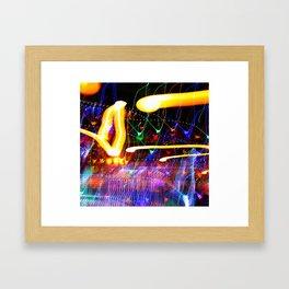 Love Moves Fast Framed Art Print