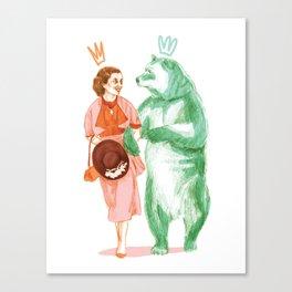 Bestial love Canvas Print