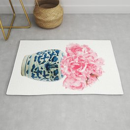 Chinoiserie floral decor Rug