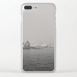 hallstatt under the snow (3) Clear iPhone Case