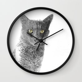 Wolf the Cat 439 2 Wall Clock