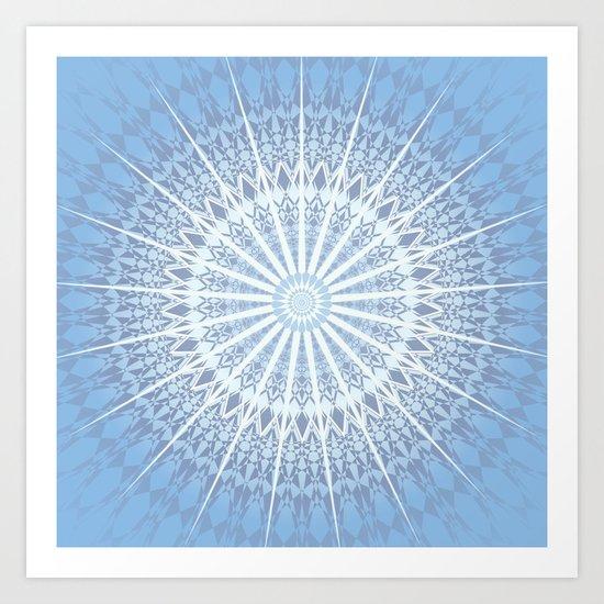 Blue Mandala 2 Art Print