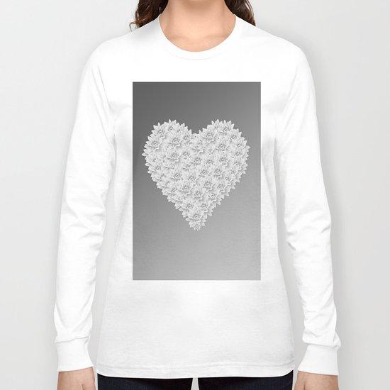 White heart Long Sleeve T-shirt
