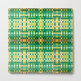 Calypso Tartan / Mango Verde Metal Print