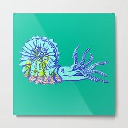 Ammonite Terrarium Metal Print