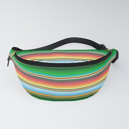 Mexican Serape Horizontal Lines Colorful Pattern  Fanny Pack