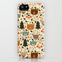Woodland Creatures iPhone Case