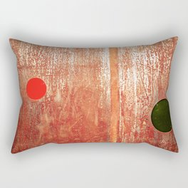 Metallic Face (Red Version) Rectangular Pillow
