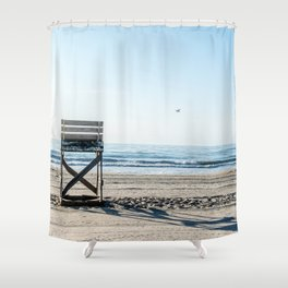While the Lifeguards Away Shower Curtain