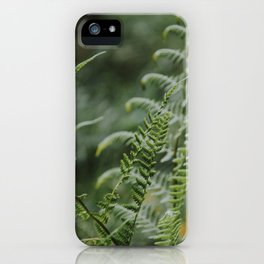 Fern - green plants Utrecht - nature fine art photography iPhone Case