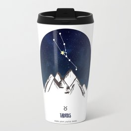 Astrology Taurus Zodiac Horoscope Constellation Star Sign Watercolor Poster Wall Art Travel Mug