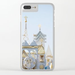 Disneyland It's A Small World Facade Clear iPhone Case
