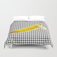 banana Duvet Covers featuring Banana by Ozghoul
