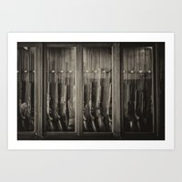 guns Art Prints featuring Guns by Aaron MacDougall