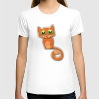 fabric T-shirts featuring Fabric Cat by Tatyana Adzhaliyska