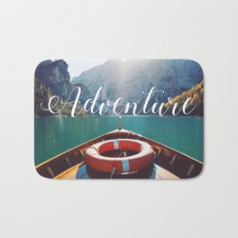 Live the Adventure - Typography Bath Mat