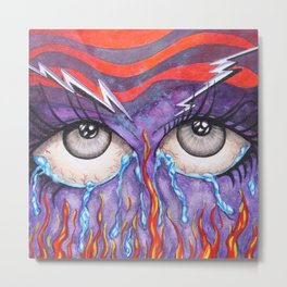 Expressive Eyes Metal Print