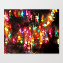 Party Twinkle Lights Canvas Print