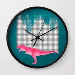 DinoRose - pinky tyrex Wall Clock