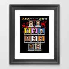 8 Bit Reservoir Framed Art Print