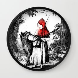 Hey there little red riding hood Wall Clock