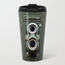Vintage black doff double lens camera iPhone 4 5 6 7 8 x, pillow case, mugs and tshirt Travel Mug