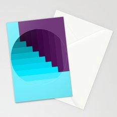 Ups and Down | Deep Within | Purple | Blue | Turquoise Stationery Cards