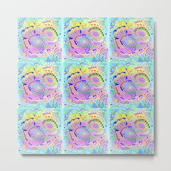 Sea Dream in Pastels, original artwork Metal Print