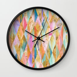 Justine Abstract Brushstrokes Pattern Wall Clock