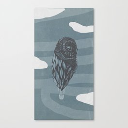 Hot Owl Balloon Canvas Print