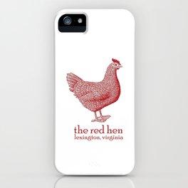 The Red Hen Lexington, Virginia iPhone Case