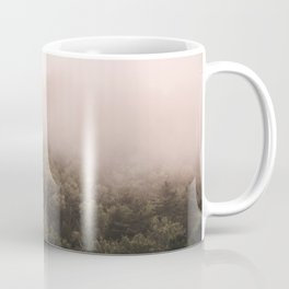Pink Foggy Forest Landscape Photography Nature Earth Coffee Mug