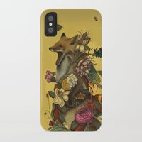 justin timberlake iPhone & iPod Cases featuring Fox Confessor by Lindsey Carr