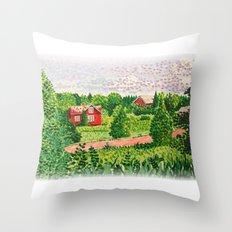 Finnish Landscape Throw Pillow