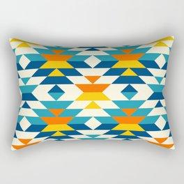 Bohemian large aztec diamonds blue pattern Rectangular Pillow