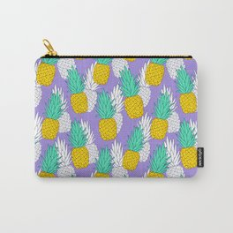 Pineapples on violet Carry-All Pouch