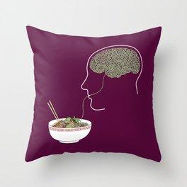 Noodle Brain Throw Pillow