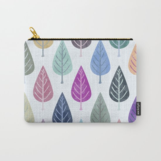 Watercolor Forest Pattern III Carry-All Pouch