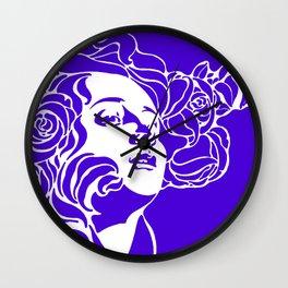 """Koloman (Kolo) Moser """"Girl's head"""" (1) Wall Clock"""